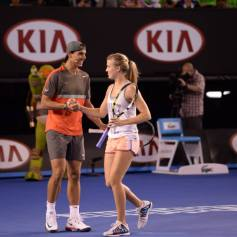 Australian Open Nadal Federer Kids Tennis Day 2014 (10)