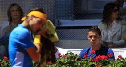 Cristiano watching Nadal