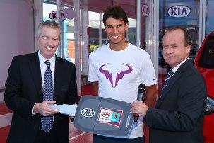 Rafael Nadal Australia Kia Fleet Handover (2)