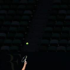 Rafael Nadal practising Australian Open 2014 (14)