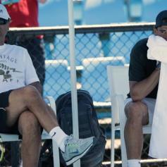 Rafael Nadal Uncle Toni Practice Australian Open 2014 (11)