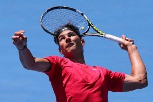 Rafael+Nadal+2014+Australian+Open+Practice+Michael+Dodge+4