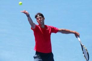 Rafael+Nadal+2014+Australian+Open+Practice+Michael+Dodge+5