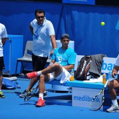 Sebastian Nadal Rafael Maymo Uncle Toni Team Nadal Aus Open 2014