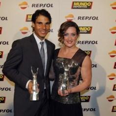 Rafa Nadal and Mireia Belmonte. Photo: Getty Images