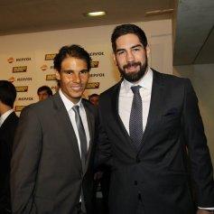 Rafa and Nikola Karabatic. Photo: Pep Morata/Mundodeportivo.com