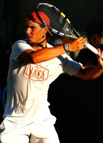 Rafa in Indian Wells, 2014. Photo via Nike Tennis