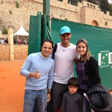 """""""Happy to be with @RafaelNadal today in Monaco ! Great guy ! Number 1 as a person! Good luck Rafa!"""" Photo via Twitter: @MassaFelipe19"""