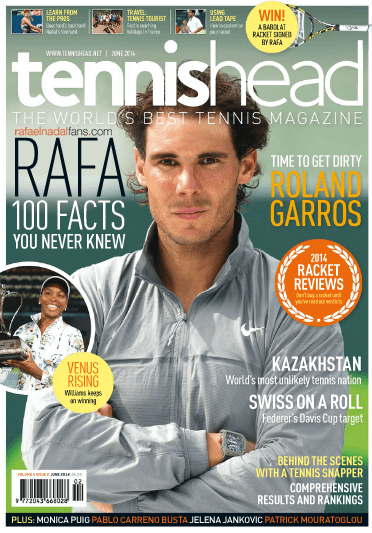 Rafael Nadal Tennishead Magazine June 2014