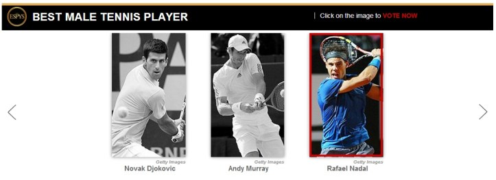 Rafael Nadal Best Tennis Player ESPY