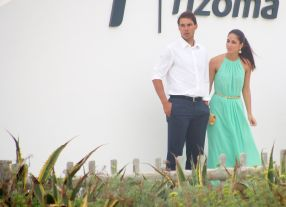 Rafael Nadal and his girlfriend Maria Francisca Perello at Friends' Wedding (11)