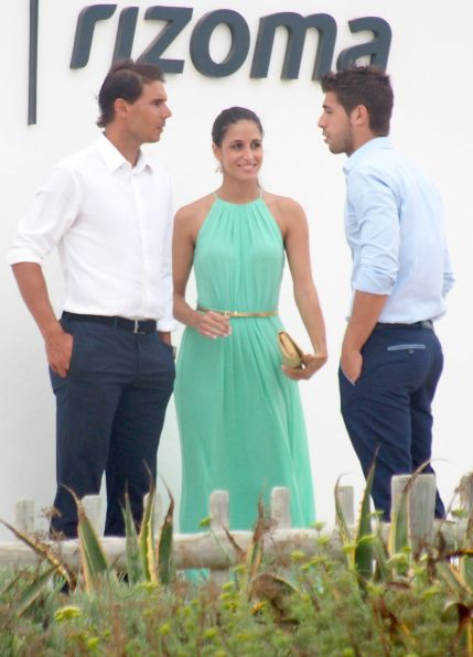 Rafael Nadal and his girlfriend Maria Francisca Perello at Friends' Wedding (12)