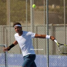 Rafael Nadal practices in Manacor - wrist injury (2)