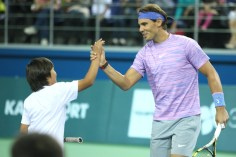 Rafael Nadal v Jo-Wilfried Tsonga Kazakhstan exhibition (5)