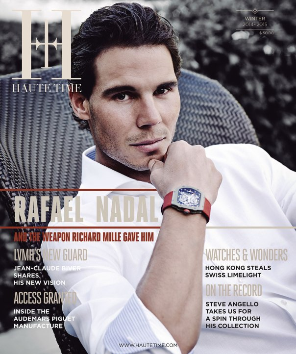 Rafael Nadal is on the cover of Haute Time magazine