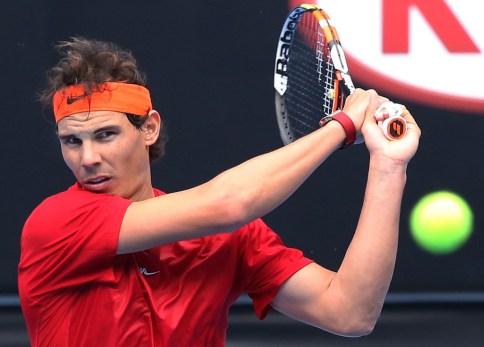 Rafael+Nadal+Australian+Open+Entrenamiento+2015