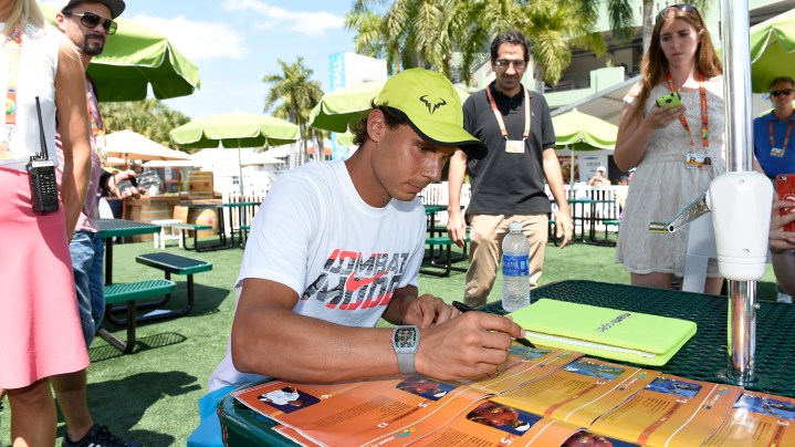 Rafael Nadal at the Miami Open 2015