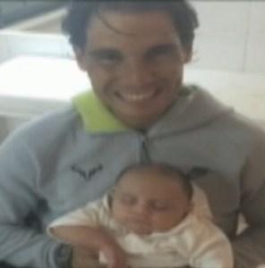 Rafael Nadal and Mariano Zabaleta's son Fermin