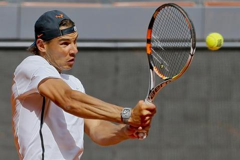 Rafael Nadal first pratice in Madrid 2015 (3)