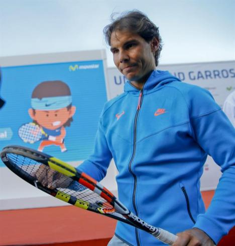 Rafael Nadal participates in Movistar event in Madrid 2015 (3)