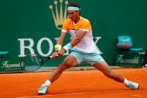 Rafael Nadal plays against John Isner in Monte Carlo 2015