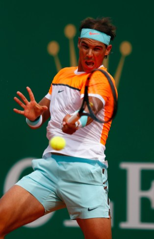 Rafael Nadal plays against Novak Djokovic in Monte Carlo 2015