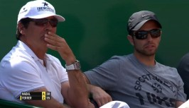 Toni Nadal and Rafael Maymo watching Rafa in Monte Carlo 2015