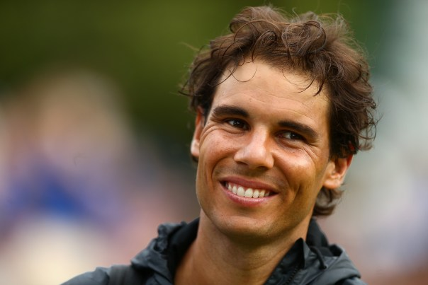 STOKE POGES, ENGLAND - JUNE 26:  Rafael Nadal of Spain looks on after his match against Robin Haase of the Netherlands during Day 4 of The Boodles Tennis Event at Stoke Park on June 26, 2015 in Stoke Poges, England.  (Photo by Jordan Mansfield/Getty Images)