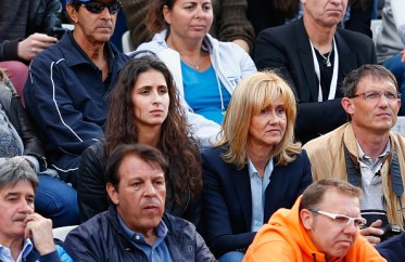 PARIS, FRANCE - JUNE 01: Maria Francisca Perello, girlfriend of Rafael Nadal of Spain watches him i his Men's Singles match against Jack Sock of the United States on day nine of the 2015 French Open at Roland Garros on June 1, 2015 in Paris, France. (Photo by Julian Finney/Getty Images)