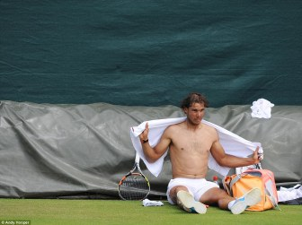 Rafael Nadal Practices With Andy Murray At Wimbledon (5)