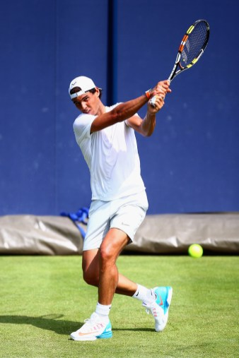 Rafael Nadal of Spain practices during day two of the Aegon Championships at Queen's Club on June 16, 2015 in London, England. (June 15, 2015 - Source: Jordan Mansfield/Getty Images Europe)