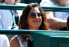 LONDON, ENGLAND - JUNE 30: Xisca Perello, girlfriend of Rafael Nadal of Spain, looks on during his Gentlemens Singles first round match against Thomaz Bellucci of Brazil on day two of the Wimbledon Lawn Tennis Championships at the All England Lawn Tennis and Croquet Club on June 30, 2015 in London, England. (Photo by Julian Finney/Getty Images)