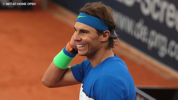 Rafael Nadal Hamburg Round 1 doubles 2015