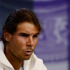Rafael Nadal of Spain attends a press conference during day four of the Wimbledon Lawn Tennis Championships at the All England Lawn Tennis and Croquet Club on July 2, 2015 in London, England. (July 1, 2015 - Source: Pool/Getty Images Europe)