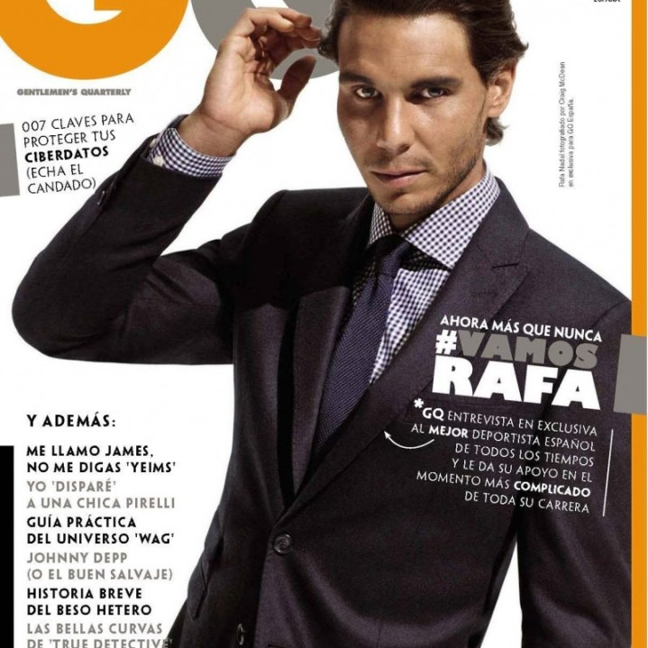 Rafael Nadal on the cover of GQ Spain magazine September 2015