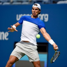 August 25, 2015 – Rafael Nadal practices for the 2015 US Open at the Billie Jean King National Tennis Center in Flushing, NY. - USTA/Steven Ryan