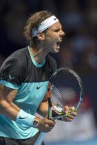 El tenista español Rafael Nadal, durante el partido de primera ronda del torneo de Basilea disputado ante el checo Lukas Rosol en Suiza, hoy 26 de octubre de 2015. EFE/Georgios Kefalas