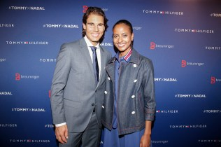 STUTTGART, GERMANY - NOVEMBER 10: Rafael Nadal and Sara Nuru attend the Tommy Hilfiger X Rafael Nadal @ Breuninger on November 10, 2015 in Stuttgart, Germany. (Photo by Franziska Krug/Getty Images for Tommy Hilfiger)