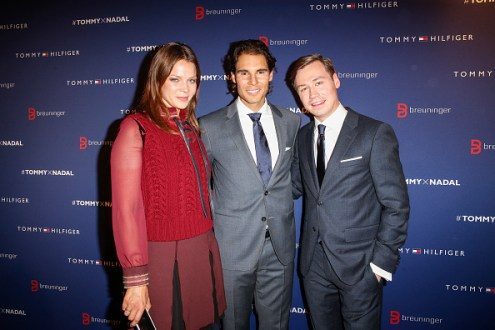 STUTTGART, GERMANY - NOVEMBER 10: Jessica Schwarz, Rafael Nadal and David Kross attend the Tommy Hilfiger X Rafael Nadal @ Breuninger on November 10, 2015 in Stuttgart, Germany. (Photo by Franziska Krug/Getty Images for Tommy Hilfiger)
