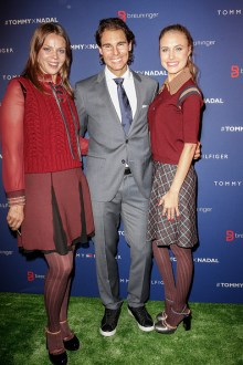 STUTTGART, GERMANY - NOVEMBER 10: Jessica Schwarz, Rafael Nadal and Alena Gerber attend the Tommy Hilfiger X Rafael Nadal @ Breuninger on November 10, 2015 in Stuttgart, Germany. (Photo by Franziska Krug/Getty Images for Tommy Hilfiger)