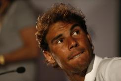 El tenista español Rafael Nadal habla hoy, lunes 15 de febrero de 2016, durante rueda de prensa del Abierto de Tenis de Río, en Río de Janeiro (Brasil). EFE/Marcelo Sayão