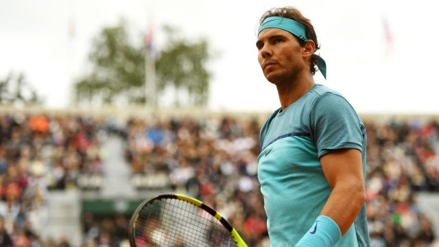 Rafael Nadal beats Sam Groth in three sets at the French Open 2016