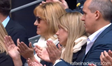 Rafael Nadal mother and sister at Madrid Open SF 2016