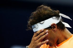 Tennis - China Open Men's Singles quarterfinal - Beijing, China - 07/10/16. Rafael Nadal of Spain reacts during his match against Grigor Dimitrov of Bulgaria. REUTERS/Thomas Peter