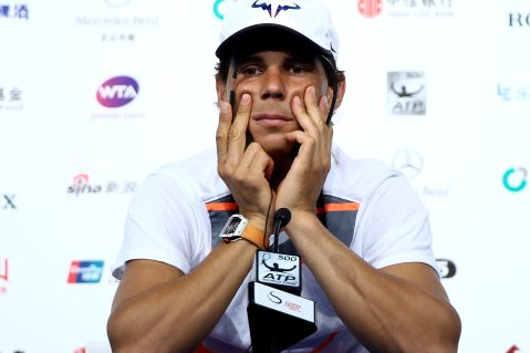 Tennis - China Open - Beijing, China - 02/10/16. Rafael Nadal of Spain listens to reporters questions in Beijing. REUTERS/Damir Sagolj
