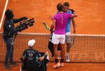 Rafael Nadal of Spain shakes hands at the net after his straight set victory against Albert Ramos-Vinolas of Spain in the final on day eight of the Monte Carlo Rolex Masters at Monte-Carlo Sporting Club on April 23, 2017 in Monte-Carlo, Monaco. (April 22, 2017 - Source: Clive Brunskill/Getty Images Europe)