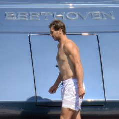 Rafael Nadal short holiday on yacht in Spain (2)