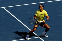 Rafael Nadal of Spain plays Albert Ramos-Vinolas of Spain during day 7 of the Western & Southern Open at the Lindner Family Tennis Center on August 18, 2017 in Mason, Ohio. (Aug. 17, 2017 - Source: Matthew Stockman/Getty Images North America)