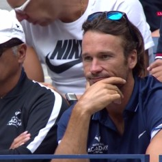 Rafael Nadal coaches Uncle Toni and Carlos Moya 2017 US Open final