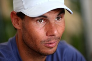 Rafael Nadal of Spain speaks to the media during an interview session during day one of ATP Masters Series: Monte Carlo Rolex Master at Monte-Carlo Sporting Club on April 15, 2018 in Monte-Carlo, Monaco. (April 14, 2018 - Source: Julian Finney/Getty Images Europe)